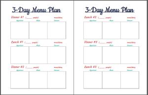 3-day menu planner 2page