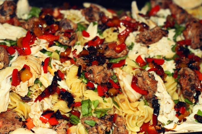 healthy pasta bake  happily hughes