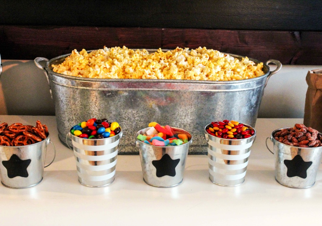 The Ultimate Popcorn Bar by lifestyle blogger Jessica of Happily Hughes