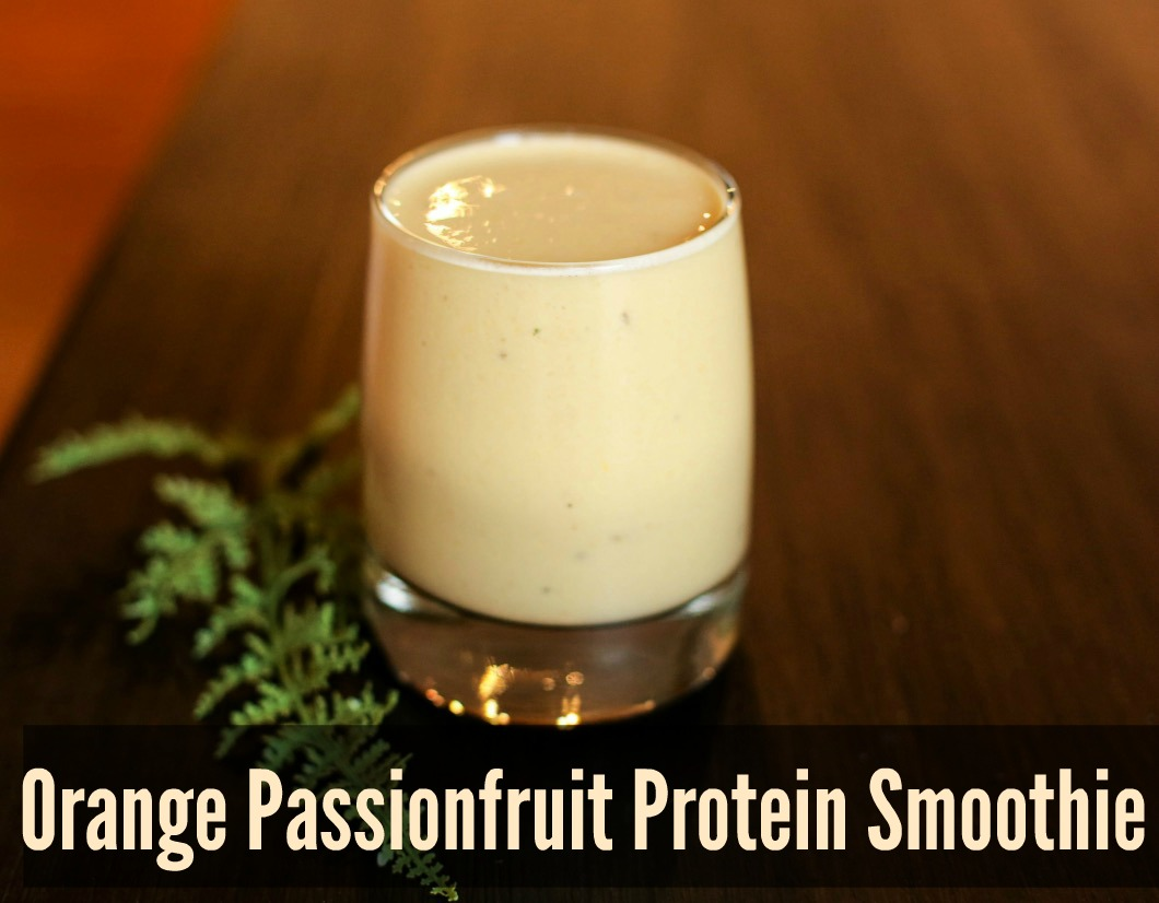 Orange Passionfruit Protein Smoothie