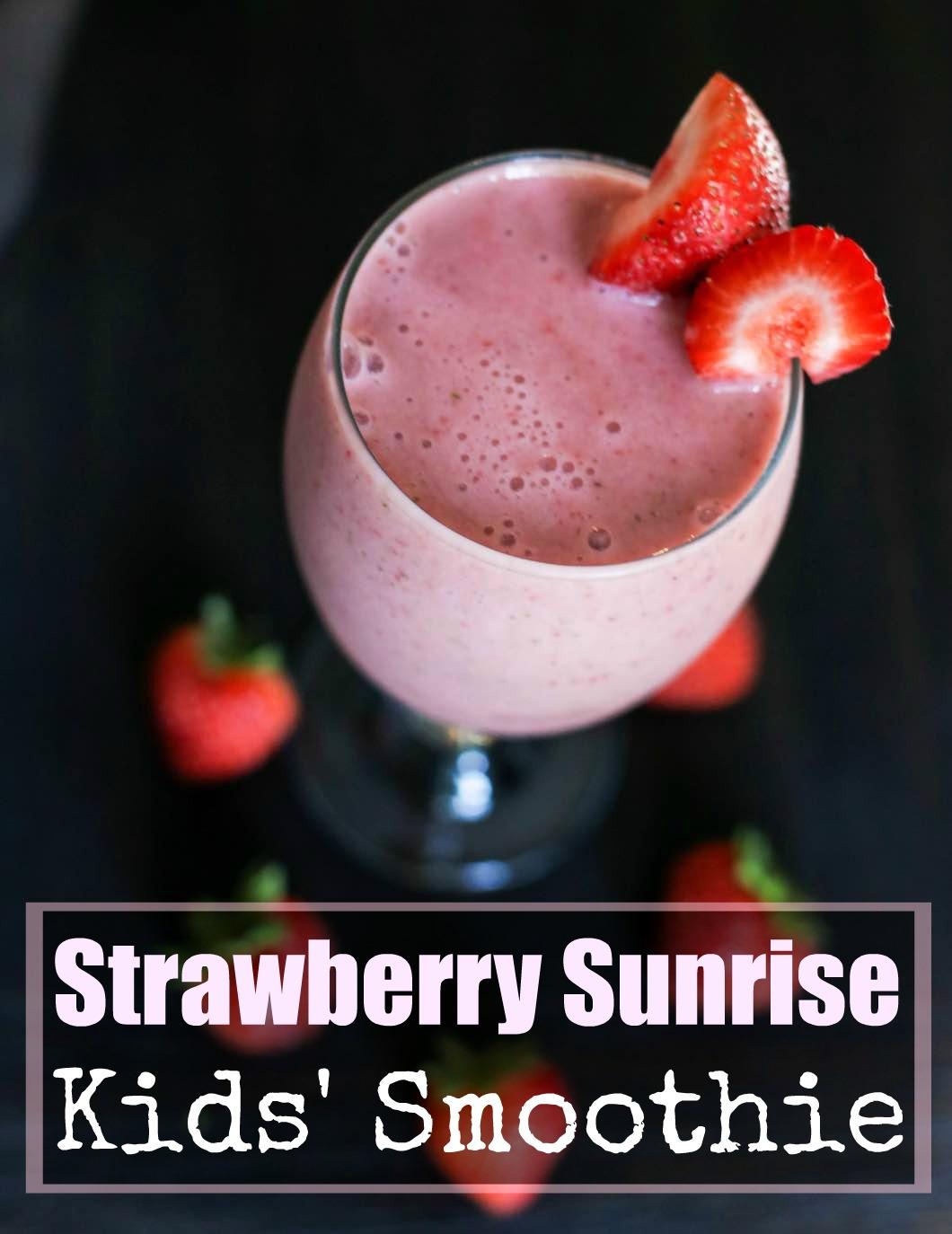 Strawberry Sunrise Kids' Smoothie