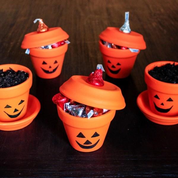Halloween Painted Pots