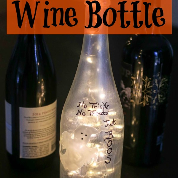 Halloween Painted Wine Bottle Glass Paint