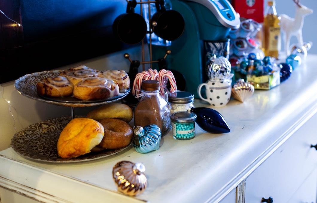 Christmas Coffee Bar Baked Goods - Starbucks Christmas Coffee Bar by Atlanta style blogger Happily Hughes