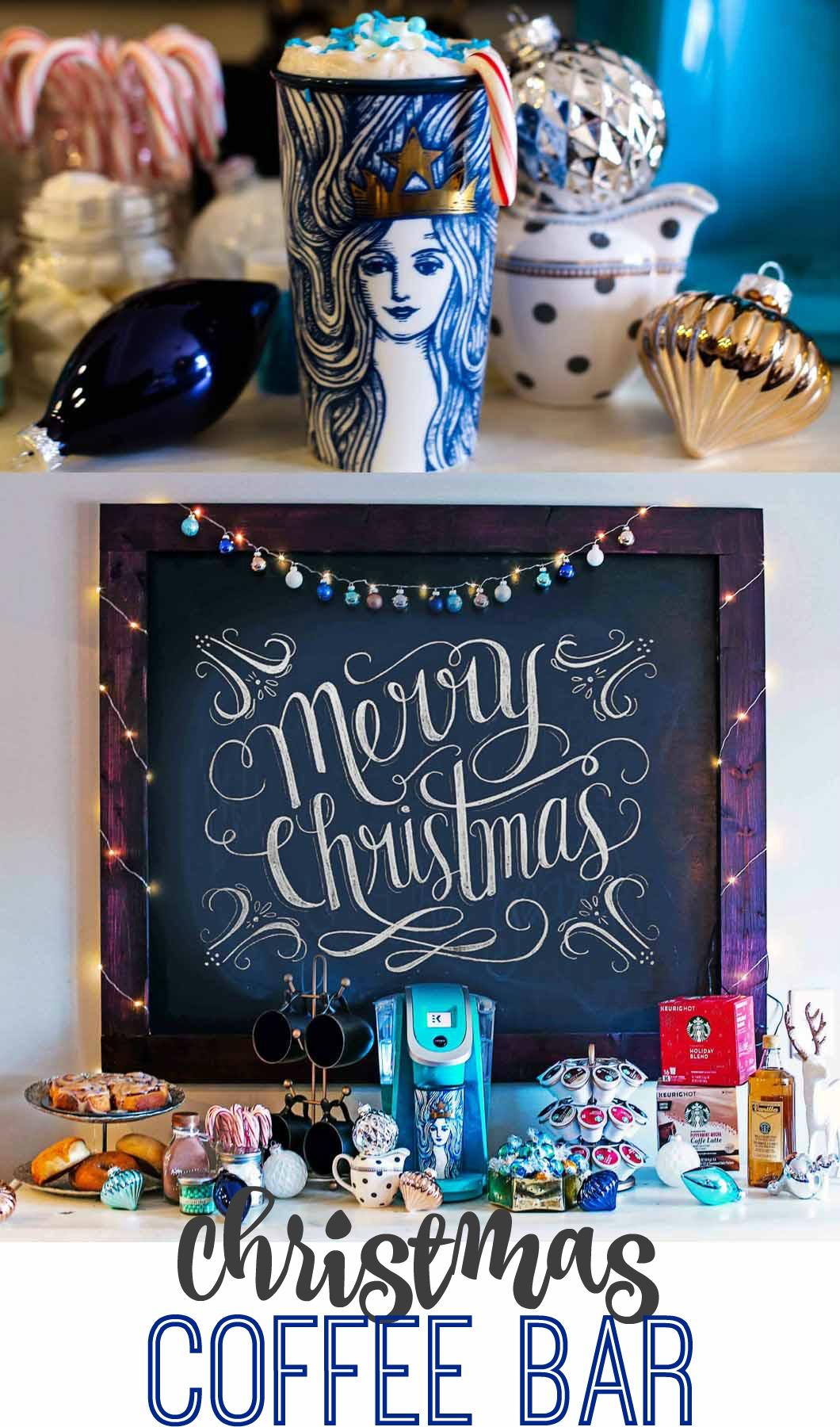 Christmas Coffee Bar with Starbucks - Starbucks Christmas Coffee Bar by Atlanta style blogger Happily Hughes