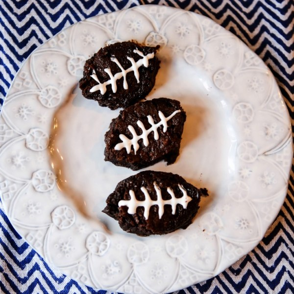Football Brownies for Super Bowl