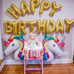 Tripp Trapp High Chair Hanging Stand Only Unicorn Birthday Party With Stokke | Happily Hughes