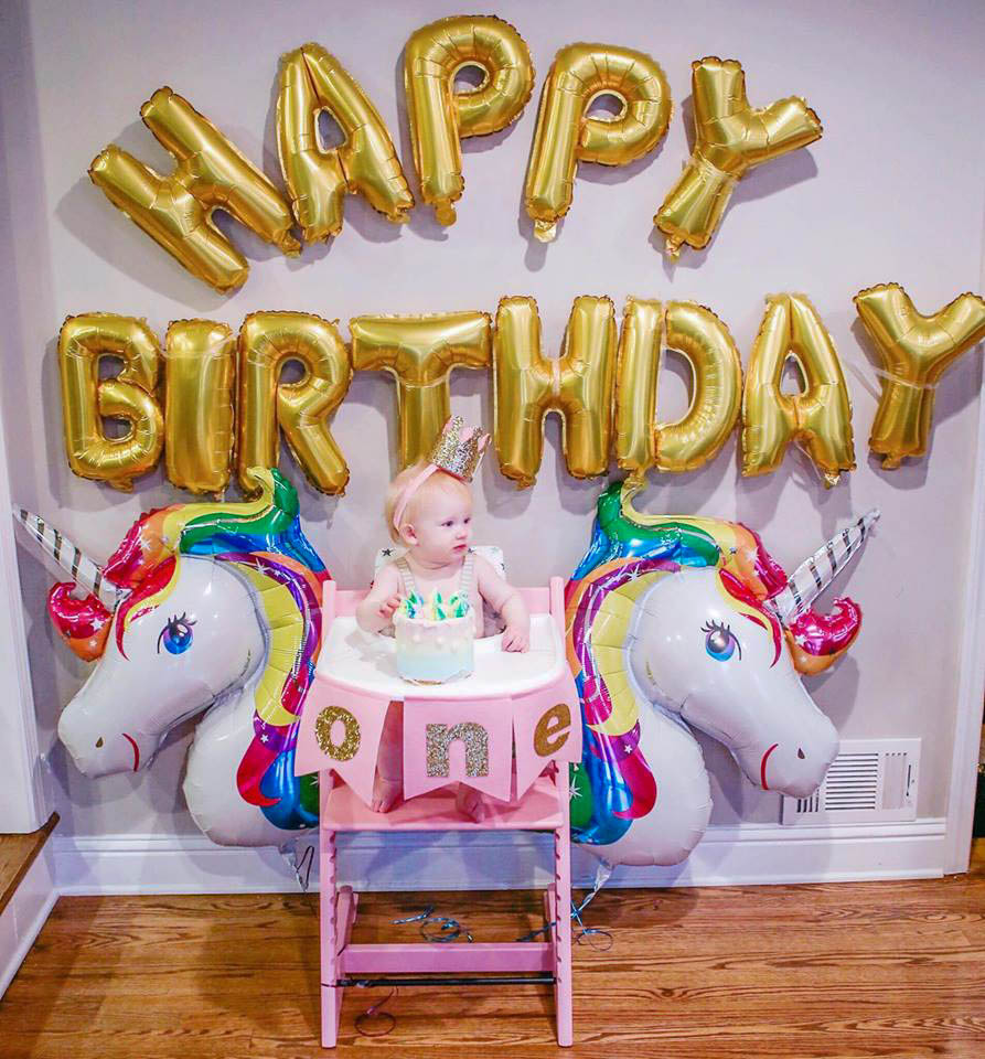 Unicorn Birthday Party One Year Old