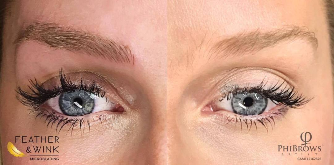 Before and After Shot Microblading