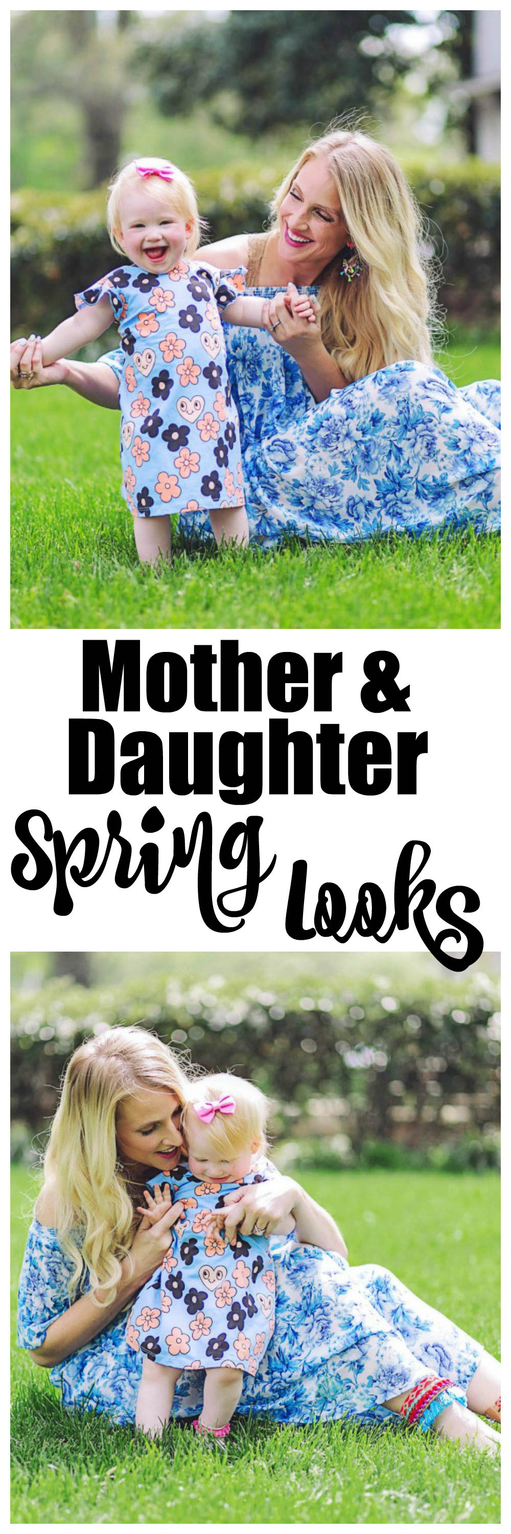 mother and daughter matching spring looks