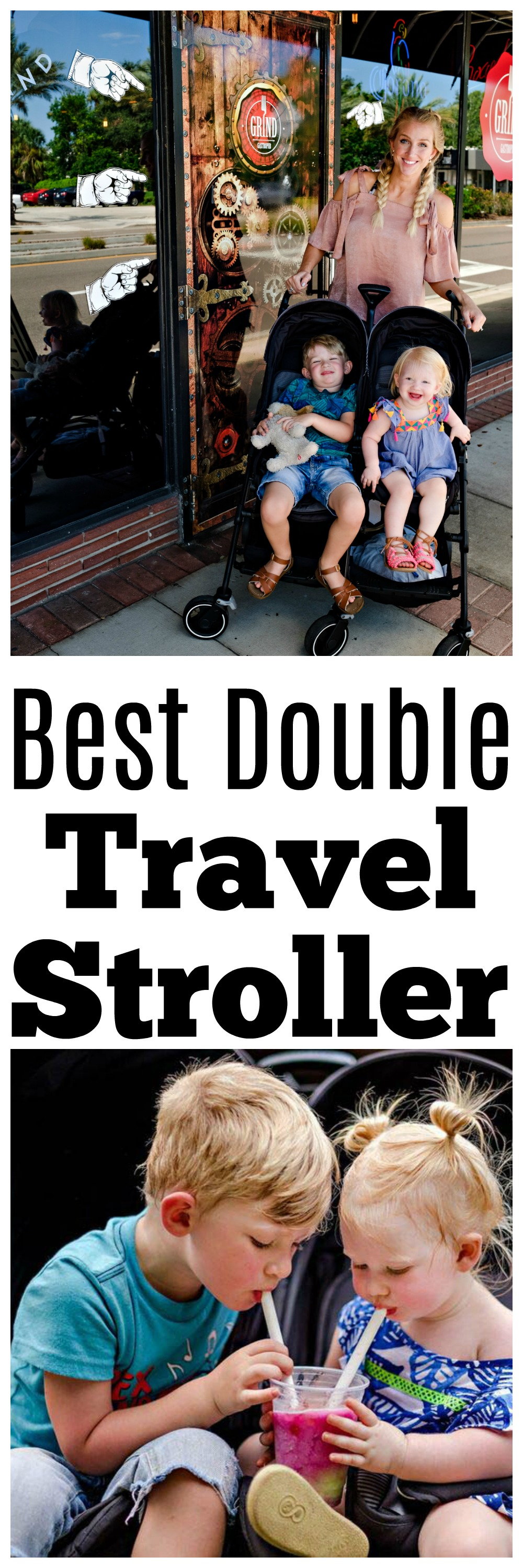 best travel double stroller - The Best Double Stroller For Traveling with Maxi Cosi by Atlanta travel blogger Happily Hughes