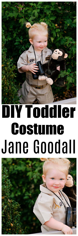 DIY Toddler Jane Goodall Costume by Atlanta mom blogger Happily Hughes