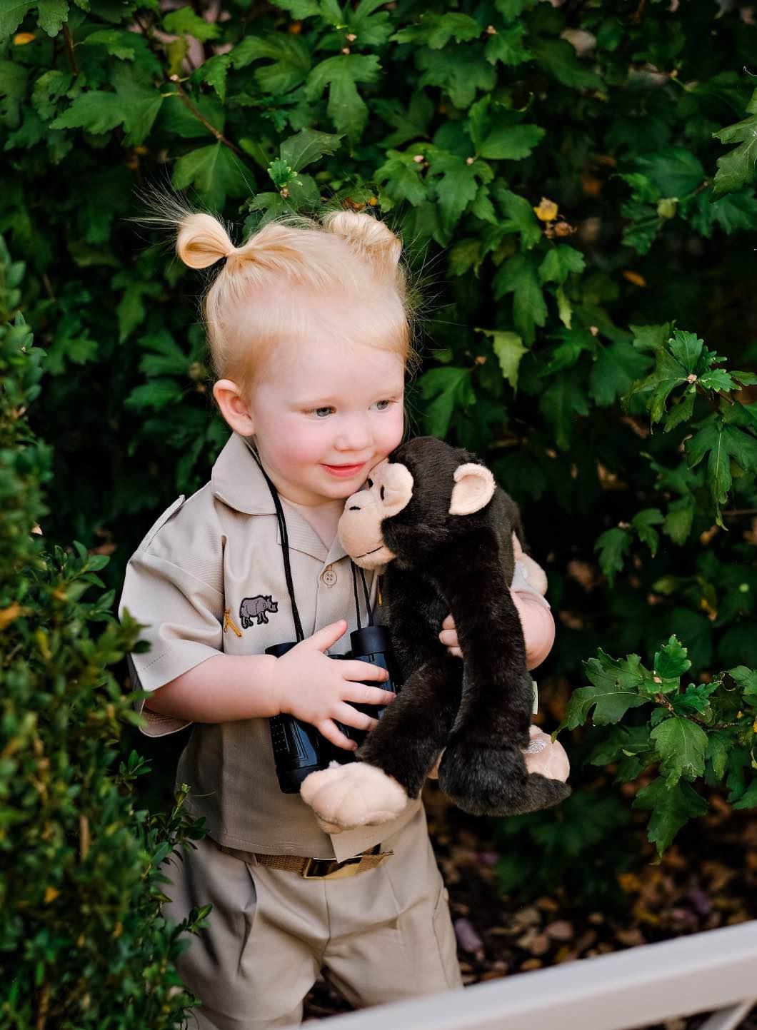 Jane Goodall - DIY Toddler Jane Goodall Costume by Atlanta mom blogger Happily Hughes by Atlanta mom blogger Happily Hughes