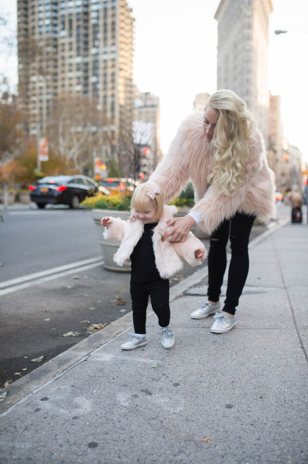 Mother Daughter Matching Winter Outfits by Atlanta fashion blogger Happily Hughes