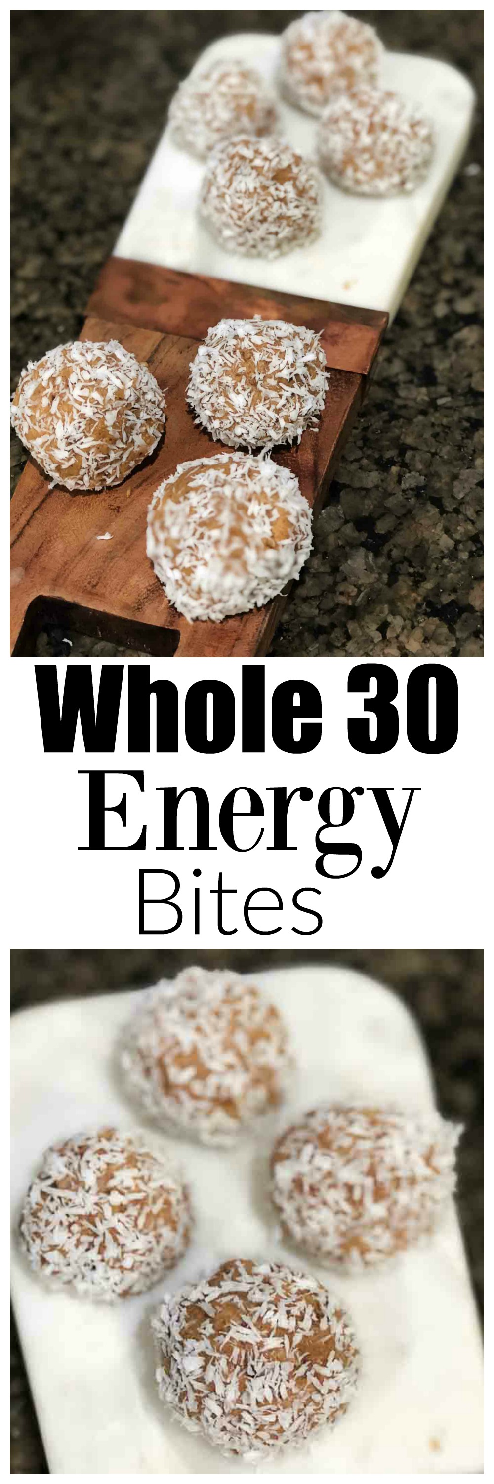 whole30 energy bites - Whole30 Snacks: Delicious Easy Energy Bites featured by top Atlanta fitness blog Happily Hughes