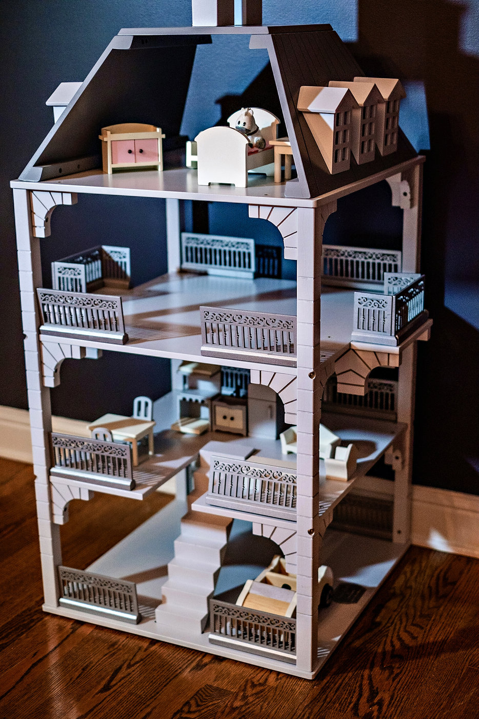 Doll House | Meg Basinger | Little Girl Room Decor featured by popular Atlanta life and style blogger Happily Hughes