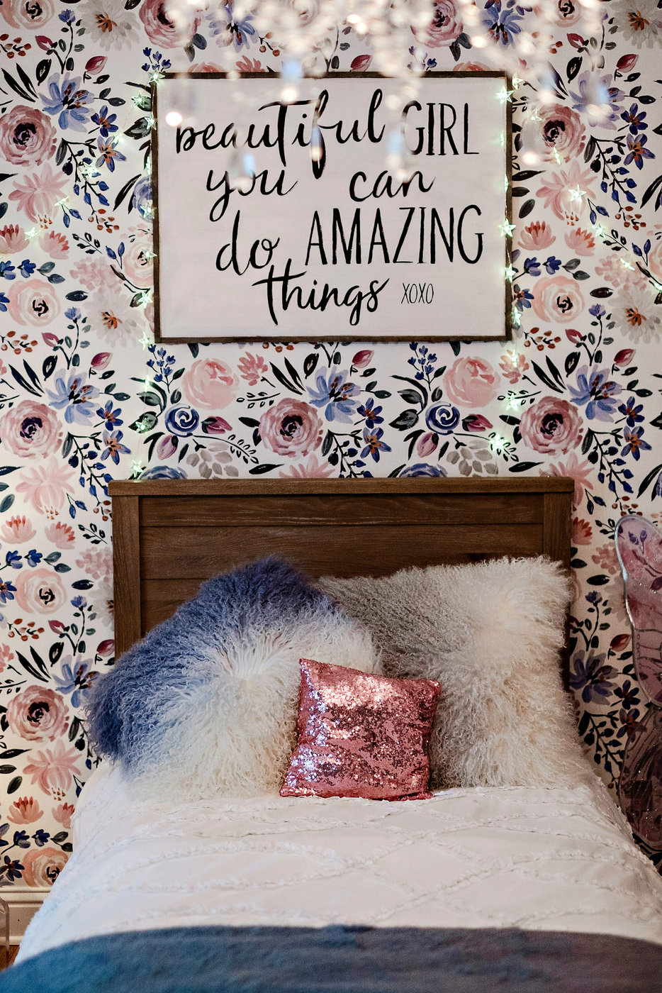 Pottery Barn Kids | Meg Basinger | Little Girl Room Decor featured by popular Atlanta life and style blogger Happily Hughes