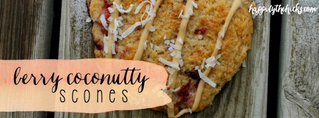 Berry Coconutty Scones