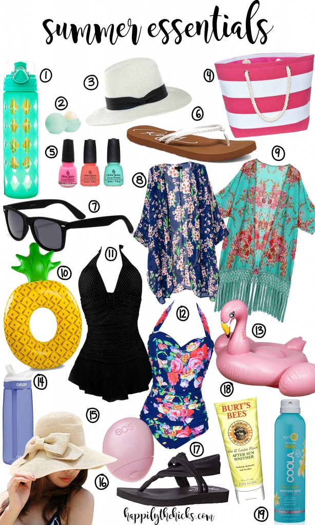 Summer Essentials | read more at happilythehicks.com