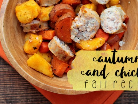 Autumn Veggies and Chicken Sausage | read more at happilythehicks.com