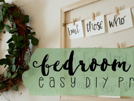 Bedroom Decor Easy DIY Projects   read more at happilythehicks.com