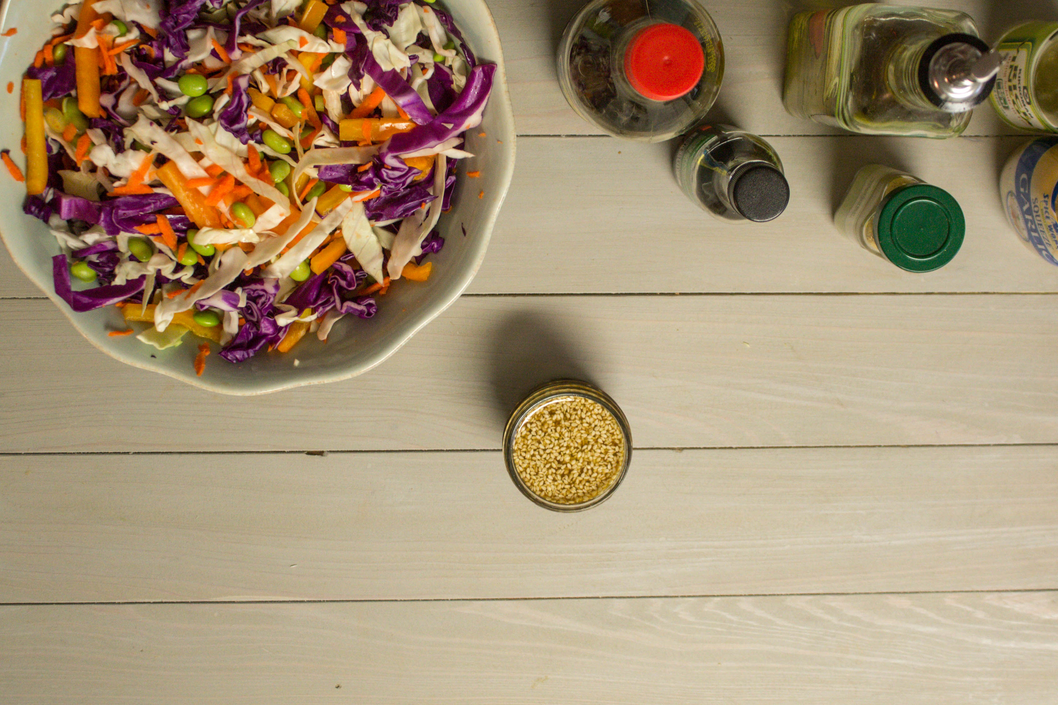 Lean Cuisine Sesame Chicken and Asian Cabbage Salad | read more at happilythehicks.com