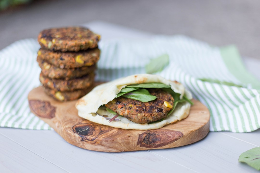 Sweet Potato and Black Bean Veggie Burger