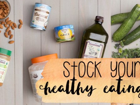 Stock Your Kitchen with my favorite healthy eating essentials | read more at happilythehicks.com