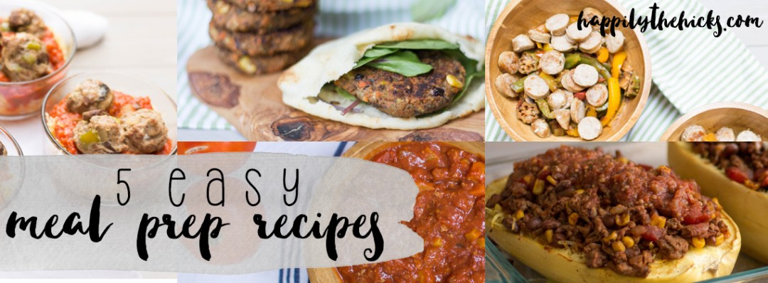Need some meal prep ideas? Check out these 5 easy meal prep recipes that will make meal prepping a breeze! | read more at happilythehicks.com