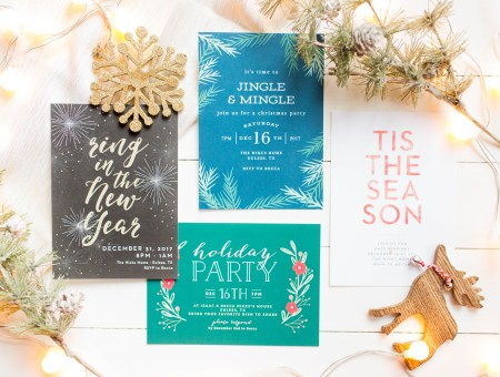 Make your holidays a little easier with Basic Invite! Beautiful Christmas cards and holiday invitations for all people. | read more at happilythehicks.com #ad #basicinvite