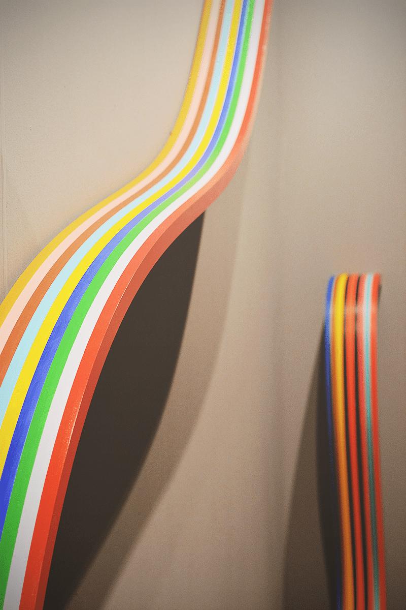 Fragemento de la obra de De Volder en la galería Del Infinito. I see rainbows, of course!