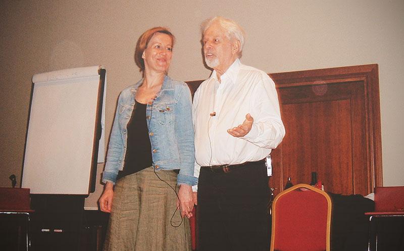 Alejandro Jodorowsky y Marianne Costa
