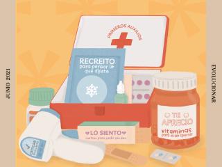 Botiquín de primeros auxilios para el corazón. Ilustración por Victoria Gutiérrez Prada