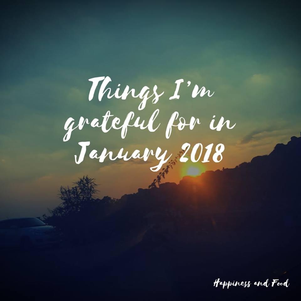 Gratitude List - January 2018
