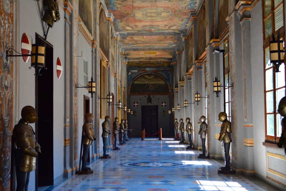 Hallway in the Grandmaster's Palace with armours