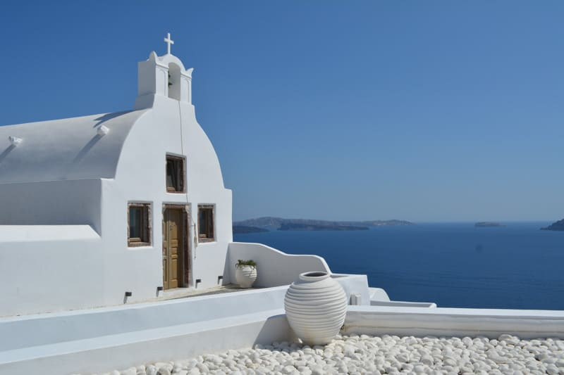 Oia is a typical town in Santorini