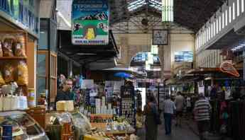 Inside the Municipal Market in Chania, Crete