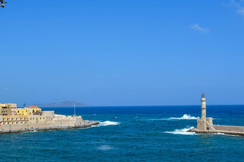 Chania Harbour with the lighthouse