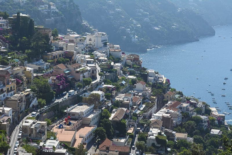 Positano's setup is pretty special and a challenge for motorists