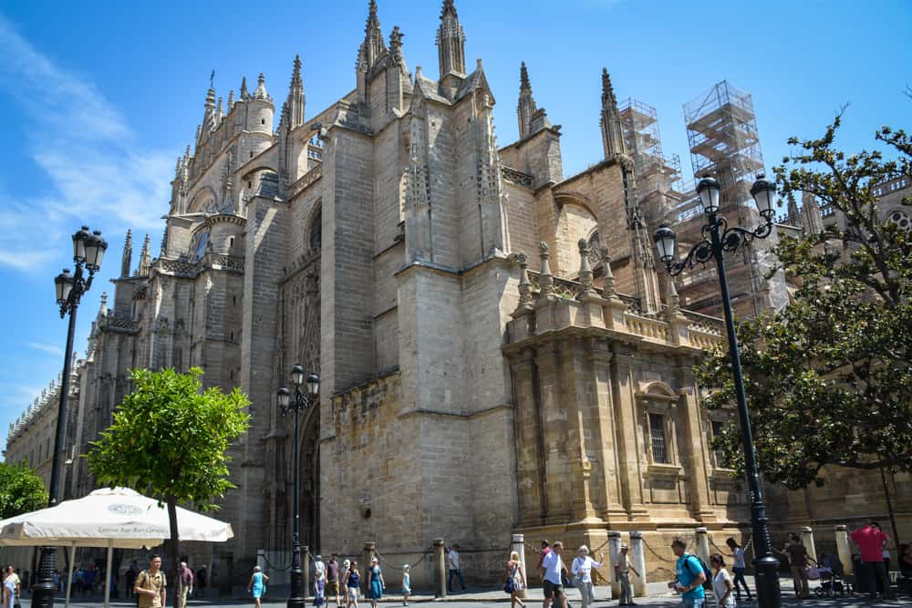 Seville Cathedral on the outside