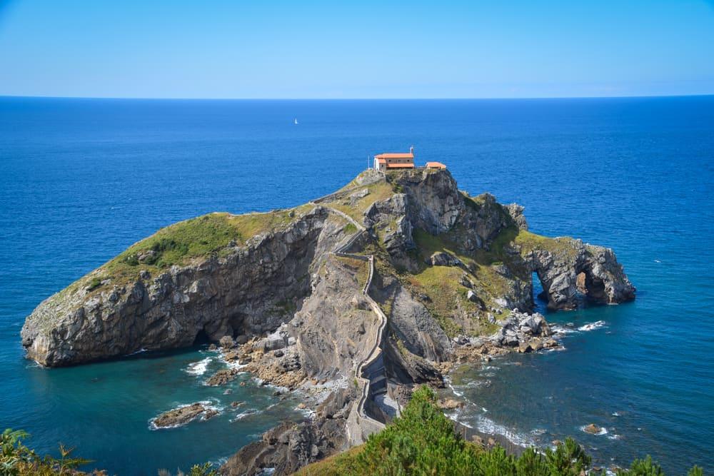 A view from the lookout onto San Juan de Gaztelugatxe