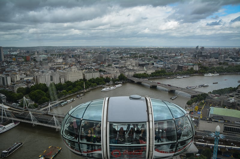 London Eye is a great way of seeing London from above