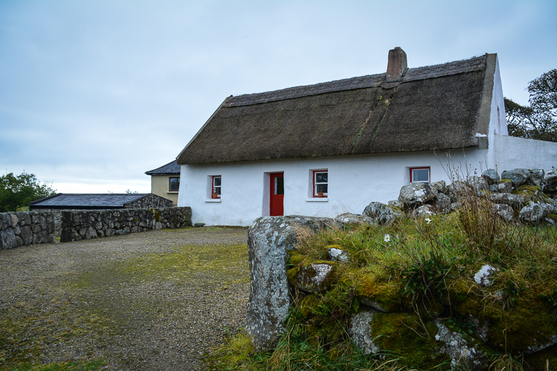Old thatched cottage at Cnoc Suain