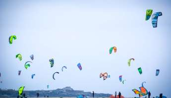 Kite surfers in Tarifa