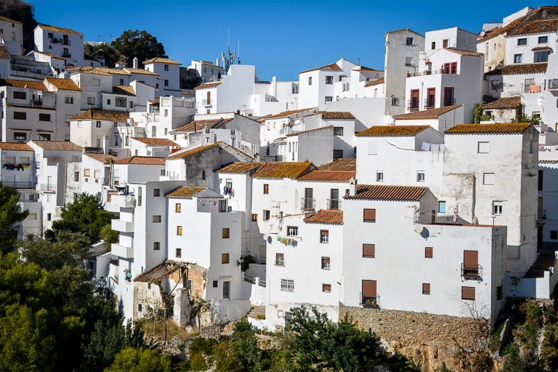 The houses of Casares look like stacked sugar cubes