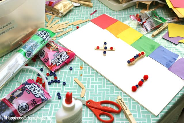 Child Led Crafting Mess