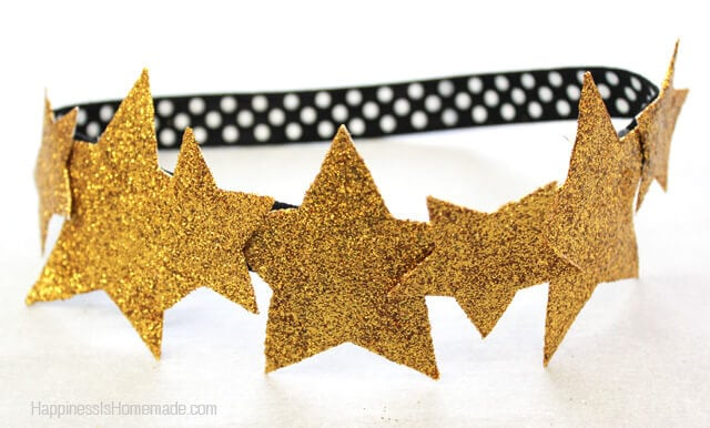 Gold Glitter Star Crown Headband