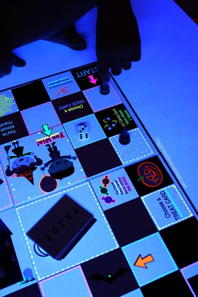 Neon Sharpie Board Game