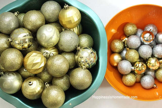 Christmas Ornaments for DIY Holiday Wreath