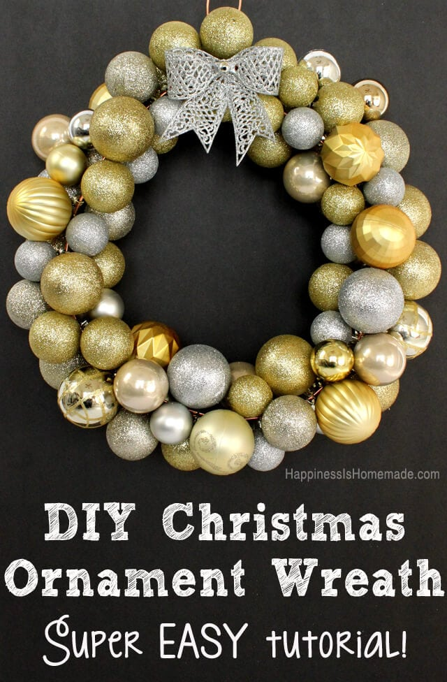 Easy DIY Christmas Ornament Wreath Tutorial